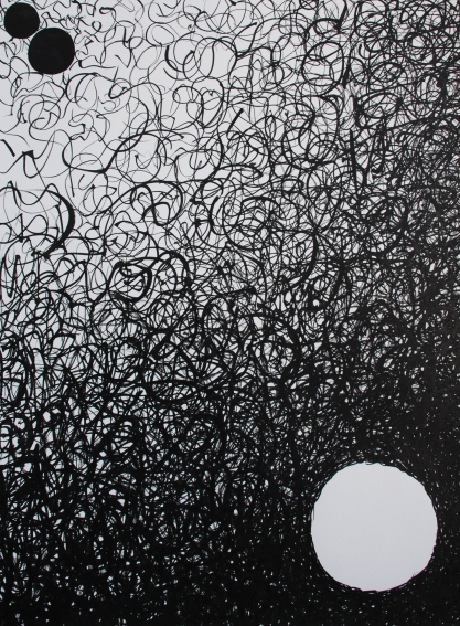 """Losing vs not winning."" Ink on paper, 2014."