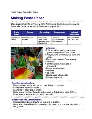 Lesson 1: Paste Paper